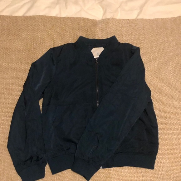 Anthropologie Jackets & Blazers - Cute navy zip up bomber jacket